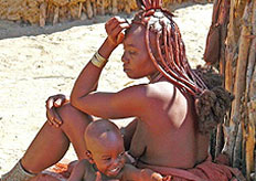 The tour continues to the rugged region of Kaokoland, home to the Himba
