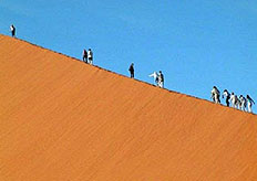 Some of Sossusvlei's most spectacular hills of sand are the highest in the world