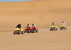 A quad biking adventure in the sand dunes is an informative and exciting way to spend the day