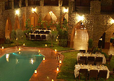 Conference dinner at the luxurious castle-themed hotel near Sossusvlei