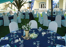 A dinner set-up at the Swakopmund Hotel and Entertainment Centre