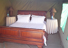 Our camps are fully serviced and equipped with proper beds and bedding