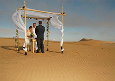 Make your wedding day extra special with a dramatic outdoor venue in the Namibian dunes.